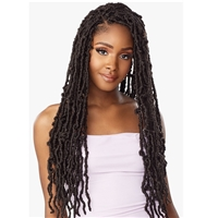 Glamourtress, wigs, weaves, braids, half wigs, full cap, hair, lace front, hair extension, nicki minaj style, Brazilian hair, crochet, hairdo, wig tape, remy hair, Lace Front Wigs, Remy Hair, Sensationnel Lulutress Synthetic Braid - 3X DISTRESSED LOCS 24