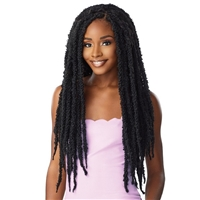 Glamourtress, wigs, weaves, braids, half wigs, full cap, hair, lace front, hair extension, nicki minaj style, Brazilian hair, crochet, hairdo, wig tape, remy hair, Lace Front Wigs, Remy Hair, Sensationnel Synthetic Lulutress Braids - 2X BUTTERFLY LOCS 24