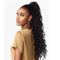 Glamourtress, wigs, weaves, braids, half wigs, full cap, hair, lace front, hair extension, nicki minaj style, Brazilian hair, crochet, hairdo, wig tape, remy hair, Lace Front Wigs, Sensationnel Synthetic Ponytail Instant Pony Wrap - BRAIDED LOOSE DEEP 26