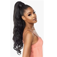 Glamourtress, wigs, weaves, braids, half wigs, full cap, hair, lace front, hair extension, nicki minaj style, Brazilian hair, crochet, hairdo, wig tape, remy hair, Lace Front Wigs, Remy Hair, Sensationnel Synthetic Ponytail Instant Pony Wrap - BLOW OUT 24