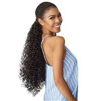 Glamourtress, wigs, weaves, braids, half wigs, full cap, hair, lace front, hair extension, Brazilian hair, crochet, hairdo, wig tape, remy hair, Lace Front Wigs, Remy Hair, Sensationnel Synthetic Ponytail Instant Pony Wrap - CURLY BODY 24