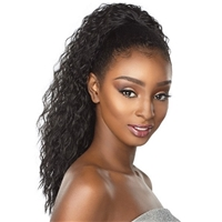 Glamourtress, wigs, weaves, braids, half wigs, full cap, hair, lace front, hair extension, nicki minaj style, Brazilian hair, crochet, hairdo, wig tape, remy hair, Lace Front Wigs, Remy Hair, Sensationnel Synthetic Ponytail Instant Pony - FRENCH WAVE