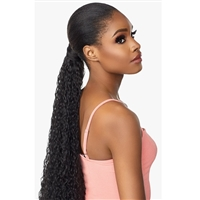 Glamourtress, wigs, weaves, braids, half wigs, full cap, hair, lace front, hair extension, nicki minaj style, Brazilian hair, crochet, hairdo, wig tape, remy hair, Lace Front Wigs, Remy Hair, Sensationnel Synthetic Ponytail Instant Pony Wrap FRENCH WAVE30