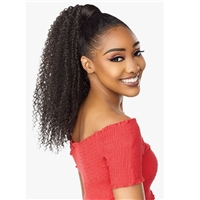 Glamourtress, wigs, weaves, braids, half wigs, full cap, hair, lace front, hair extension, nicki minaj style, Brazilian hair, crochet, hairdo, wig tape, remy hair, Lace Front Wigs, Remy Hair, Sensationnel Synthetic Ponytail Instant Pony Wrap KINKY CURLY18