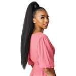 Glamourtress, wigs, weaves, braids, half wigs, full cap, hair, lace front, hair extension, Brazilian hair, crochet, hairdo, wig tape, remy hair, Lace Front Wigs, Remy Hair, Sensationnel Synthetic Ponytail Instant Pony Wrap - KINKY STRAIGHT 30