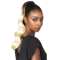 Glamourtress, wigs, weaves, braids, half wigs, full cap, hair, lace front, hair extension, nicki minaj style, Brazilian hair, crochet, hairdo, wig tape, remy hair, Lace Front Wigs, Remy Hair, Sensationnel Synthetic Ponytail Instant Pony - OCEAN WAVE 18