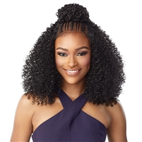 Glamourtress, wigs, weaves, braids, half wigs, full cap, hair, lace front, hair extension, nicki minaj style, Brazilian hair, crochet, hairdo, wig tape, remy hair, Sensationnel Synthetic Cloud 9 Swiss Lace What Lace 13x6 Frontal HD Lace Wig - TESSA