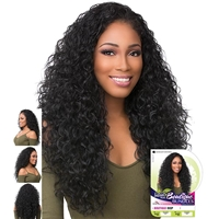 Glamourtress, wigs, weaves, braids, half wigs, full cap, hair, lace front, hair extension, nicki minaj style, Brazilian hair, crochet, hairdo, wig tape, remy hair, Sensationnel Synthetic Half Wig Instant Weave Boutique Bundles - DEEP