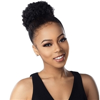 Glamourtress, wigs, weaves, braids, half wigs, full cap, hair, lace front, hair extension, nicki minaj style, Brazilian hair, crochet, hairdo, wig tape, remy hair, Lace Front Wigs, Remy Hair, Sensationnel Synthetic Instant Pony - AFRO PUFF MEDIUM