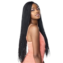 Glamourtress, wigs, weaves, braids, half wigs, full cap, hair, lace front, hair extension, nicki minaj style, Brazilian hair, crochet, hairdo, wig tape, remy hair, Sensationnel Cloud 9 4x4 Multi-Part Swiss Lace Front Wig - MICRO BOX BRAID 28