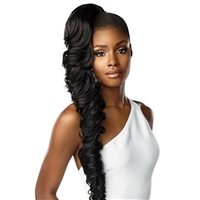 Glamourtress, wigs, weaves, braids, half wigs, full cap, hair, lace front, hair extension, nicki minaj style, Brazilian hair, crochet, hairdo, wig tape, Sensationnel Synthetic Lulu Pony - DIDI