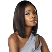 Glamourtress, wigs, weaves, braids, half wigs, full cap, hair, lace front, hair extension, nicki minaj style, Brazilian hair, crochet, hairdo, wig tape, remy hair, Lace Front Wigs, Sensationnel 100% Virgin Human Hair 12A Lace Wig - NATURAL STRAIGHT 14