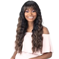Glamourtress, wigs, weaves, braids, half wigs, full cap, hair, lace front, hair extension, nicki minaj style, Brazilian hair, crochet, hairdo, wig tape, remy hair, Lace Front Wigs, Remy Hair, Human Hair, Freetress Equal Synthetic Arched Bang Wig - A 002