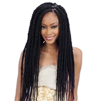 Glamourtress, wigs, weaves, braids, half wigs, full cap, hair, lace front, hair extension, nicki minaj style, Brazilian hair, crochet, hairdo, wig tape, remy hair, Lace Front Wigs, Remy Hair, Freetress Equal Synthetic Braid - 3X CUBAN TWIST BRAID 24