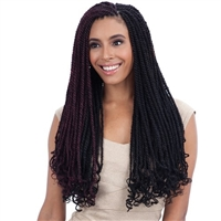 Glamourtress, wigs, weaves, braids, half wigs, full cap, hair, lace front, hair extension, nicki minaj style, Brazilian hair, crochet, hairdo, wig tape, remy hair, Lace Front Wigs, Remy Hair, Freetress Equal Synthetic Braid - CUBAN TWIST BRAID 30