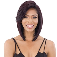 Glamourtress, wigs, weaves, braids, half wigs, full cap, hair, lace front, hair extension, nicki minaj style, Brazilian hair, crochet, hairdo, wig tape, remy hair, Lace Front Wigs, Freetress Equal Synthetic 5 Inch Lace Part Wig - FLOWY BANG
