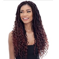 Glamourtress, wigs, weaves, braids, half wigs, full cap, hair, lace front, hair extension, nicki minaj style, Brazilian hair, crochet, hairdo, wig tape, remy hair, Lace Front Wigs, Remy Hair, Freetress Synthetic Crochet Braid - HIPPIE LOC 20 Inch
