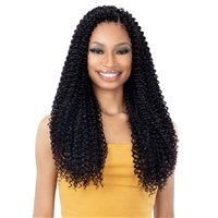 Glamourtress, wigs, weaves, braids, half wigs, full cap, hair, lace front, hair extension, nicki minaj style, Brazilian hair, crochet, hairdo, wig tape, remy hair, Lace Front Wigs, Remy Hair, Freetress Synthetic Braid - 3X PACIFIC CURL 18