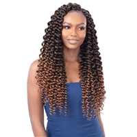 Glamourtress, wigs, weaves, braids, half wigs, full cap, hair, lace front, hair extension, nicki minaj style, Brazilian hair, crochet, hairdo, wig tape, remy hair, Lace Front Wigs, Remy Hair, Freetress Synthetic Braid - 3X SHIRLEY CURL 18