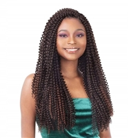 Glamourtress, wigs, weaves, braids, half wigs, full cap, hair, lace front, hair extension, nicki minaj style, Brazilian hair, crochet, hairdo, wig tape, remy hair, Lace Front Wigs, Remy Hair, Freetress Synthetic Crochet Braid - SPARKLING CURL 18