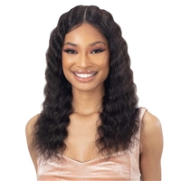 Glamourtress, wigs, weaves, braids, half wigs, full cap, hair, lace front, hair extension, nicki minaj style, Brazilian hair, crochet, hairdo, wig tape, remy hair, Shake-N-Go Girlfriend 100% Virgin Human Hair HD Lace Front Wig - DEEP WAVER 20