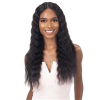 Glamourtress, wigs, weaves, braids, half wigs, full cap, hair, lace front, hair extension, nicki minaj style, Brazilian hair, crochet, hairdo, wig tape, remy hair, Shake-N-Go Girlfriend 100% Virgin Human Hair HD Lace Front Wig - DEEP WAVER 24