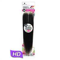 "Glamourtress, wigs, weaves, braids, half wigs, full cap, hair, lace front, hair extension, nicki minaj style, Brazilian hair, crochet, hairdo, wig tape, remy hair, Shake N Go IBIZA 100% Virgin Human Hair 2.25"" x 4.5"" HD Lace Closure - STRAIGHT 12"