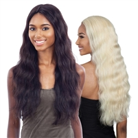 Glamourtress, wigs, weaves, braids, half wigs, full cap, hair, lace front, hair extension, nicki minaj style, Brazilian hair, crochet, hairdo, wig tape, remy hair, Lace Front Wigs, Naked 100% Human Hair Freedom Lace Part Wig - Natural 702 (613)