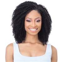 Glamourtress, wigs, weaves, braids, half wigs, full cap, hair, lace front, hair extension, nicki minaj style, Brazilian hair, crochet, hairdo, wig tape, remy hair, Lace Front Wigs, Naked Brazilian Natural Human Clip In Extension - COIL CURL 14 ( 9PCS )