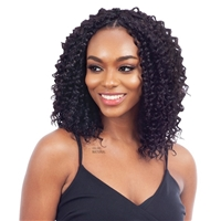 Glamourtress, wigs, weaves, braids, half wigs, full cap, hair, lace front, hair extension, nicki minaj style, Brazilian hair, crochet, hairdo, wig tape, remy hair, Lace Front Wigs, Remy Hair, Naked 100% Human Hair Crochet Braid Pre Loop Type - DEEP CURL 1