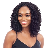 Glamourtress, wigs, weaves, braids, half wigs, full cap, hair, lace front, hair extension, nicki minaj style, Brazilian hair, crochet, hairdo, wig tape, remy hair, Lace Front Wigs, Remy Hair, Naked 100% Human Hair Crochet Braid Pre Loop Type DEEP CURL 12