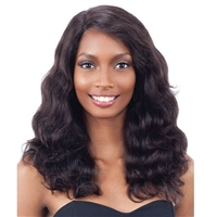 Glamourtress, wigs, weaves, braids, half wigs, full cap, hair, lace front, hair extension, nicki minaj style, Brazilian hair, crochet, hairdo, wig tape, remy hair, Naked 100% Unprocessed Remy Hair Deep Invisible L Part Lace Front Wig - BODY WAVE