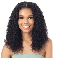 Glamourtress, wigs, weaves, braids, half wigs, full cap, hair, lace front, hair extension, nicki minaj style, Brazilian hair, crochet, hairdo, wig tape, remy hair, Naked Nature 100% Brazilian Virgin Wet & Wavy Weave - DEEP WAVE 3PCS ( 14,16,18 )