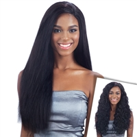 Glamourtress, wigs, weaves, braids, half wigs, full cap, hair, lace front, hair extension, nicki minaj style, Brazilian hair, crochet, hairdo, wig tape, remy hair, Lace Front Wigs, Remy Hair, Human Hair, Unprocessed Naked Nature Wet & Wavy Natural Wave 7P
