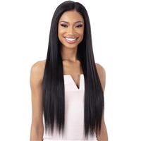 Glamourtress, wigs, weaves, braids, half wigs, full cap, hair, lace front, hair extension, nicki minaj style, Brazilian hair, crochet, hairdo, wig tape, remy hair, Lace Front Wigs, Remy Hair, Organique Synthetic 5 Inch Lace Front Wig - LIGHT YAKY STRAIGHT