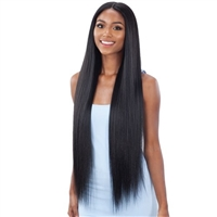Glamourtress, wigs, weaves, braids, half wigs, full cap, hair, lace front, hair extension, nicki minaj style, Brazilian hair, crochet, hairdo, wig tape, remy hair, Lace Front Wigs, Organique Synthetic 5 Inch Lace Front Wig - LIGHT YAKY STRAIGHT 36