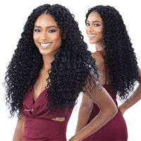 Glamourtress, wigs, weaves, braids, half wigs, full cap, hair, lace front, hair extension, nicki minaj style, Brazilian hair, crochet, hairdo, wig tape, remy hair, Lace Front Wigs, Organique Mastermix Weave - BEACH CURL 24