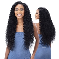 Glamourtress, wigs, weaves, braids, half wigs, full cap, hair, lace front, hair extension, nicki minaj style, Brazilian hair, crochet, hairdo, wig tape, remy hair, Lace Front Wigs, Organique Mastermix Weave - BEACH CURL 30