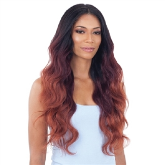 Glamourtress, wigs, weaves, braids, half wigs, full cap, hair, lace front, hair extension, nicki minaj style, Brazilian hair, crochet, hairdo, wig tape, remy hair, Lace Front Wigs, Remy Hair, Organique Mastermix Weave - BODY WAVE 4PCS (18/20/22 + 4x4 lace