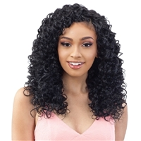 Glamourtress, wigs, weaves, braids, half wigs, full cap, hair, lace front, hair extension, nicki minaj style, Brazilian hair, crochet, hairdo, wig tape, remy hair, Lace Front Wigs, Organique Mastermix Weave - HAWAIIAN CURL 18
