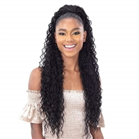 Glamourtress, wigs, weaves, braids, half wigs, full cap, hair, lace front, hair extension, nicki minaj style, Brazilian hair, crochet, hairdo, wig tape, remy hair, Lace Front Wigs, Shake-N-Go Synthetic Organique Ponytail - BEACH CURL 28