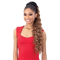 Glamourtress, wigs, weaves, braids, half wigs, full cap, hair, lace front, hair extension, nicki minaj style, Brazilian hair, crochet, hairdo, wig tape, remy hair, Lace Front Wigs, Shake-N-Go Synthetic Organique Ponytail - DEEP WAVE 28