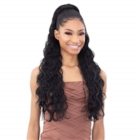 Glamourtress, wigs, weaves, braids, half wigs, full cap, hair, lace front, hair extension, nicki minaj style, Brazilian hair, crochet, hairdo, wig tape, remy hair, Lace Front Wigs, Shake-N-Go Synthetic Organique Ponytail - KING WAVE 28