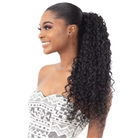 Glamourtress, wigs, weaves, braids, half wigs, full cap, hair, lace front, hair extension, nicki minaj style, Brazilian hair, crochet, hairdo, wig tape, remy hair, Lace Front Wigs, Shake N Go Organique Pony Pro Mastermix Pony Express Wrap - MALI CURL