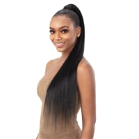 Glamourtress, wigs, weaves, braids, half wigs, full cap, hair, lace front, hair extension, nicki minaj style, Brazilian hair, crochet, hairdo, wig tape, remy hair, Lace Front Wigs, Shake N Go Organique Pony Pro Mastermix Pony Express Wrap - TRUE YAKY