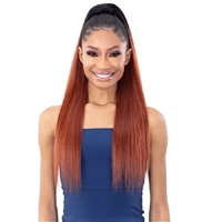 Glamourtress, wigs, weaves, braids, half wigs, full cap, hair, lace front, hair extension, nicki minaj style, Brazilian hair, crochet, hairdo, wig tape, remy hair, Lace Front Wigs, Shake-N-Go Synthetic Organique Ponytail - YAKY STRAIGHT 28