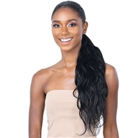 Glamourtress, wigs, weaves, braids, half wigs, full cap, hair, lace front, hair extension, nicki minaj style, Brazilian hair, crochet, hairdo, wig tape, remy hair, Lace Front Wigs, Shake-N-Go Synthetic Organique Pony Pro Ponytail - BODY WAVE 24""