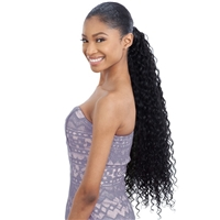 Glamourtress, wigs, weaves, braids, half wigs, full cap, hair, lace front, hair extension, nicki minaj style, Brazilian hair, crochet, hairdo, wig tape, remy hair, Lace Front Wigs, Shake-N-Go Synthetic Organique Pony Pro Ponytail - SUPER CURL 32""