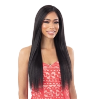Glamourtress, wigs, weaves, braids, half wigs, full cap, hair, lace front, hair extension, nicki minaj style, Brazilian hair, crochet, hairdo, wig tape, remy hair, Lace Front Wigs, Milky Way Weave - ORGANIQUE YAKY STRAIGHT 4PCS ( 14/16/18 + 4x4 CLOSURE )