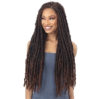 Glamourtress, wigs, weaves, braids, half wigs, full cap, hair, lace front, hair extension, nicki minaj style, Brazilian hair, crochet, hairdo, wig tape, remy hair, Lace Front Wigs, Remy Hair, Freetress Synthetic Braid - 2X INDIE DISTRESSED LOC 26""
